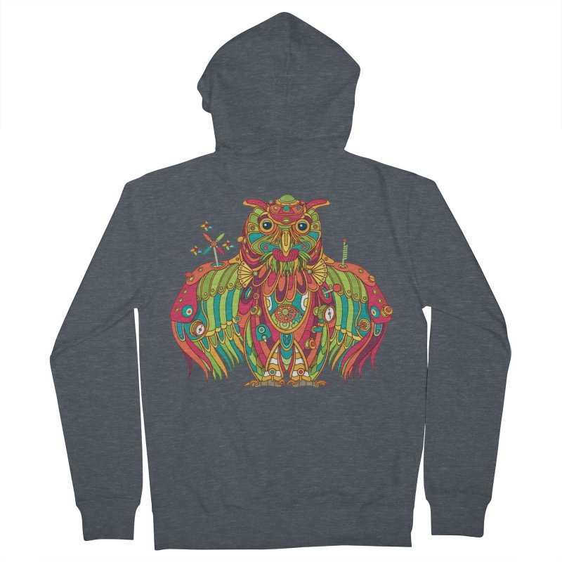 Owl, cool art from the AlphaPod Collection Women's French Terry Zip-Up Hoody by AlphaPod