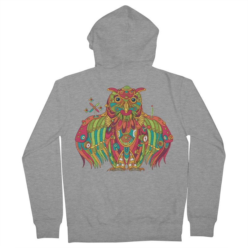 Owl, cool art from the AlphaPod Collection Men's French Terry Zip-Up Hoody by AlphaPod