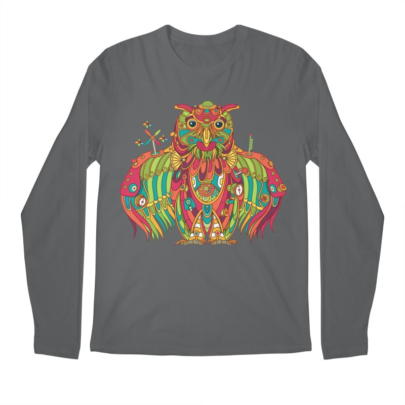 Owl, cool art from the AlphaPod Collection Men's Longsleeve T-Shirt by AlphaPod