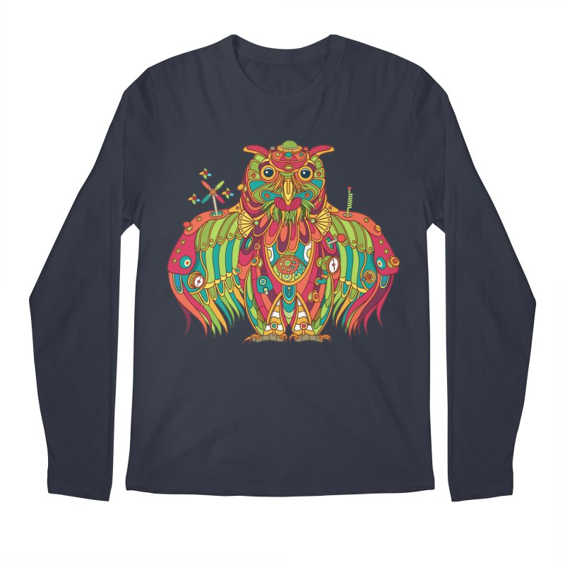 Owl, cool art from the AlphaPod Collection Men's Regular Longsleeve T-Shirt by AlphaPod