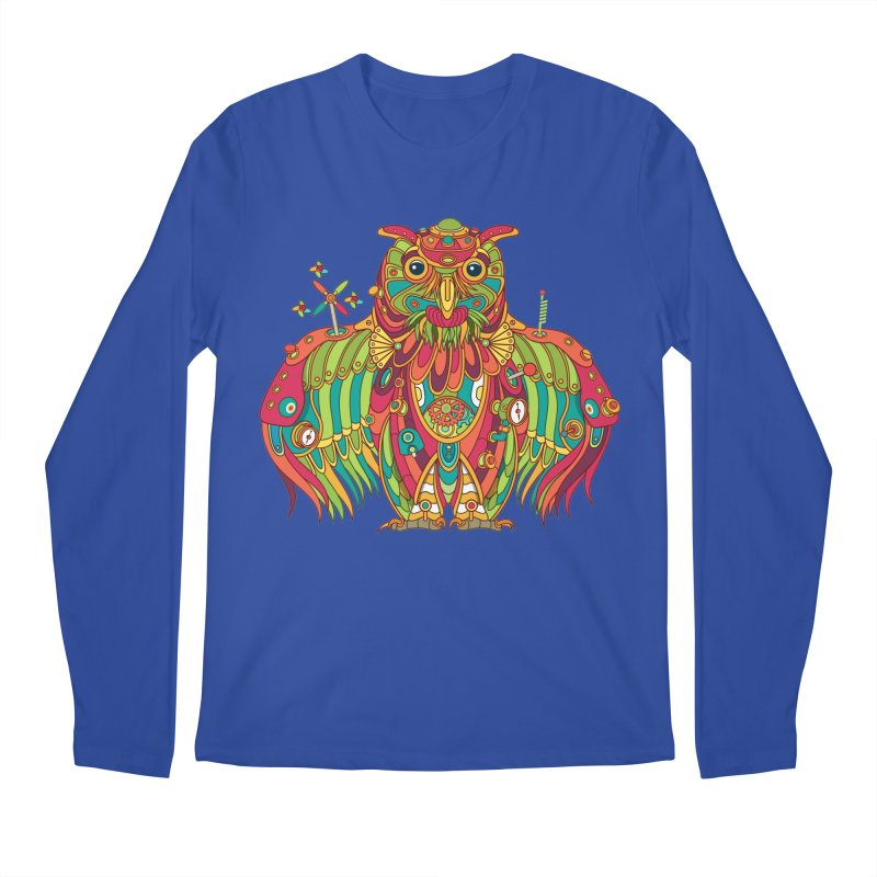 Owl, cool art from the AlphaPod Collection Men's Regular Longsleeve T-Shirt by AlphaPod