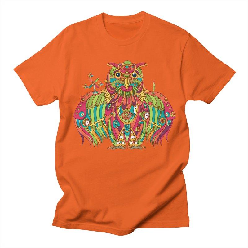 Owl, cool art from the AlphaPod Collection Men's Regular T-Shirt by AlphaPod