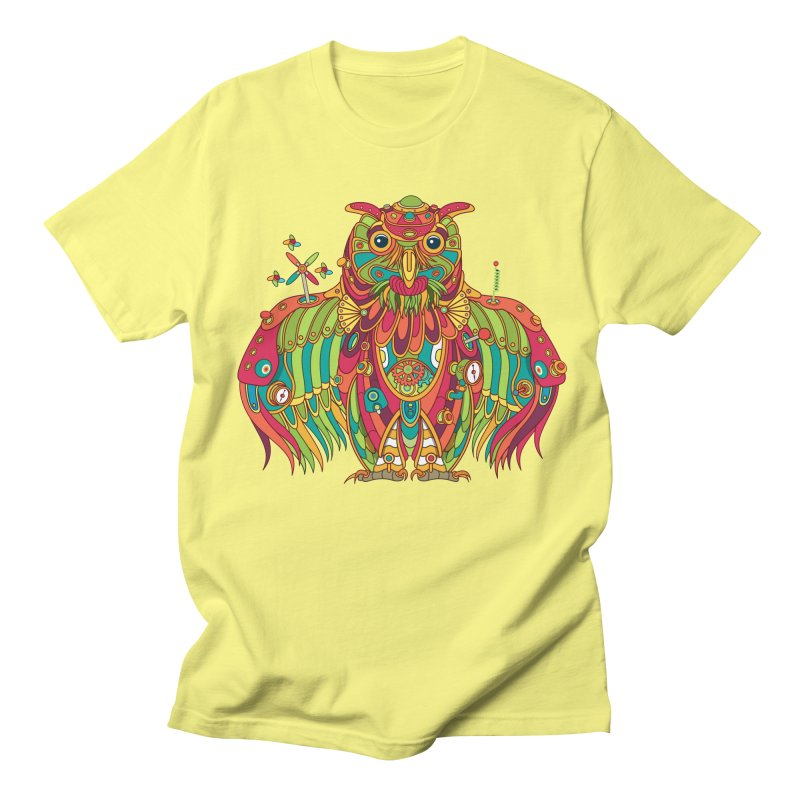 Owl, cool art from the AlphaPod Collection Men's Regular T-Shirt by AlphaPod