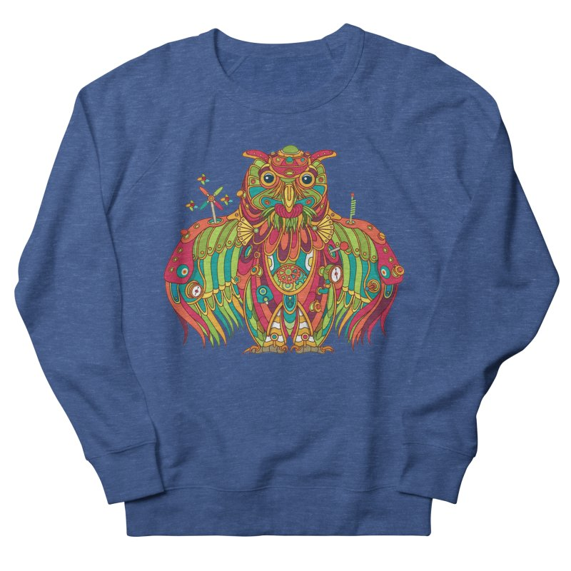 Owl, cool art from the AlphaPod Collection Women's French Terry Sweatshirt by AlphaPod