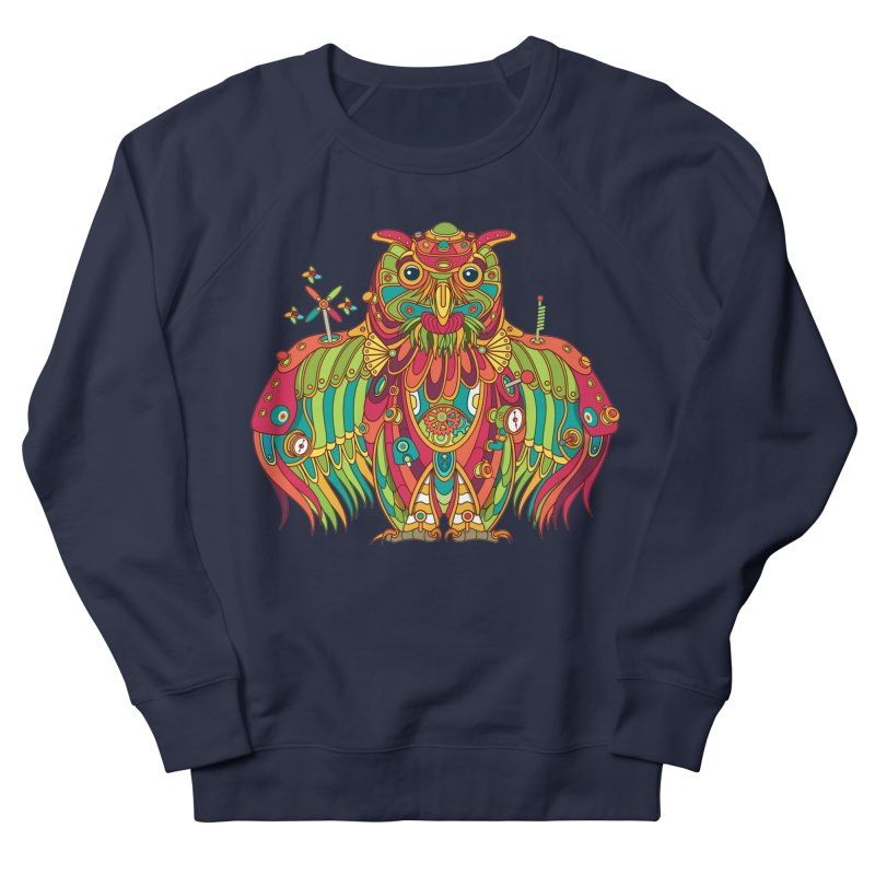 Owl, cool art from the AlphaPod Collection Men's French Terry Sweatshirt by AlphaPod