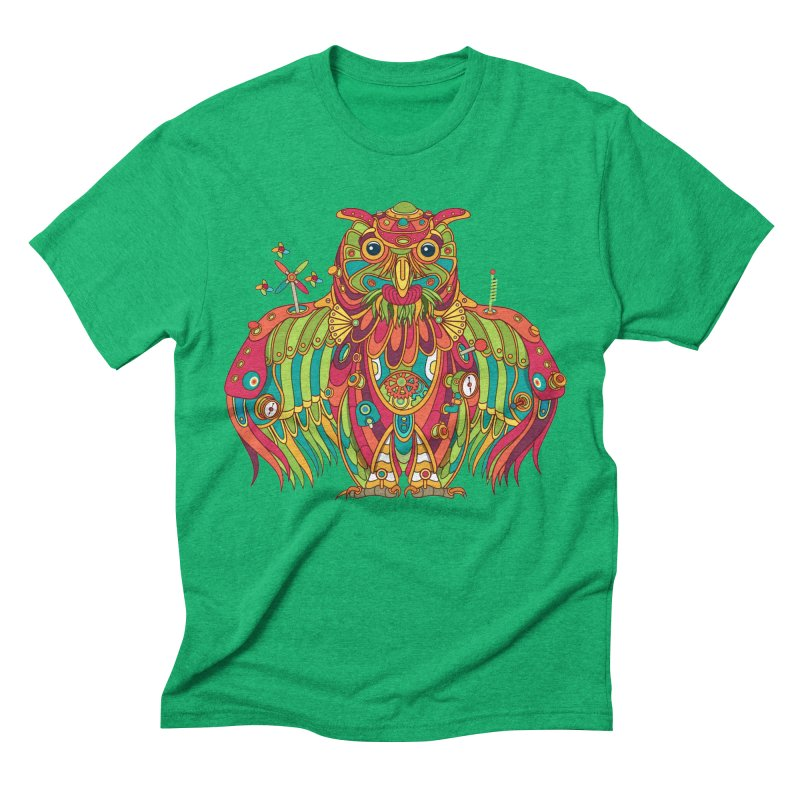 Owl, cool art from the AlphaPod Collection Men's Triblend T-Shirt by AlphaPod