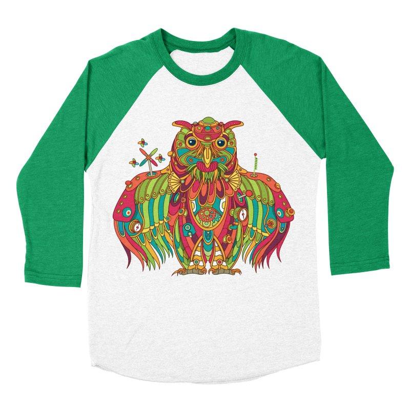 Owl, cool art from the AlphaPod Collection Women's Baseball Triblend T-Shirt by AlphaPod