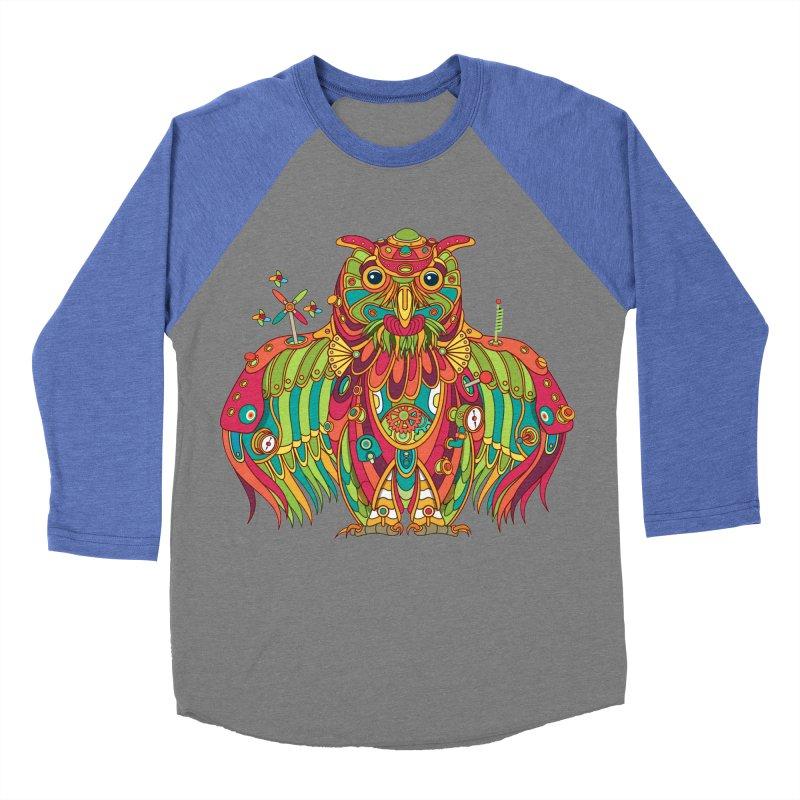 Owl, cool art from the AlphaPod Collection Women's Baseball Triblend Longsleeve T-Shirt by AlphaPod