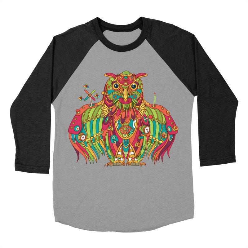 Owl, cool art from the AlphaPod Collection Men's Baseball Triblend Longsleeve T-Shirt by AlphaPod