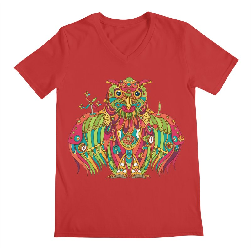Owl, cool art from the AlphaPod Collection Men's V-Neck by AlphaPod