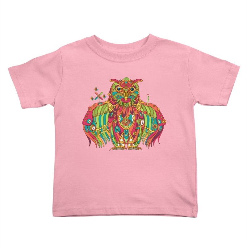 Owl, cool art from the AlphaPod Collection Kids Toddler T-Shirt by AlphaPod