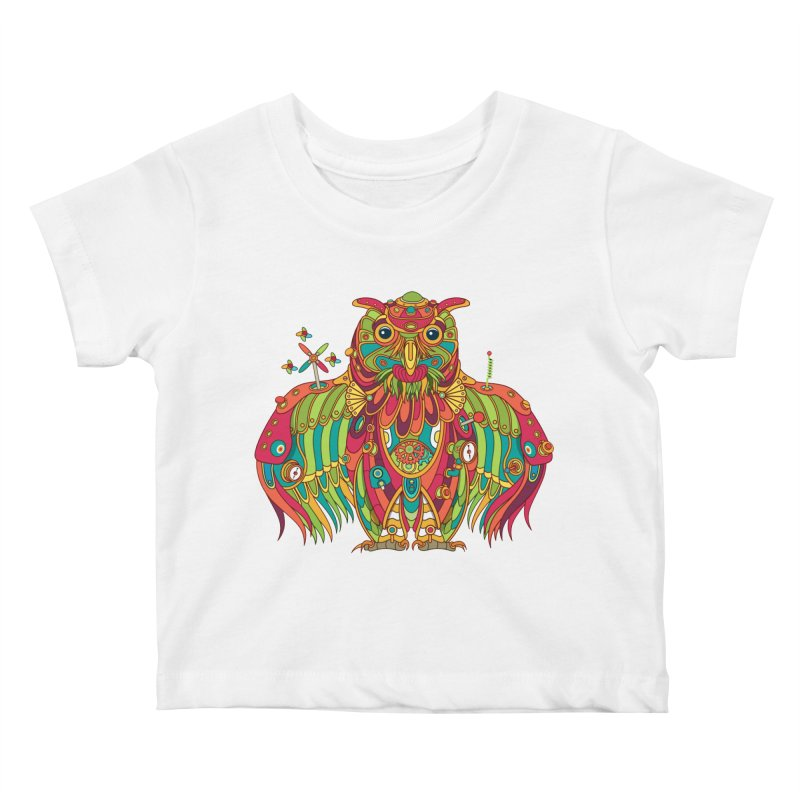 Owl, cool art from the AlphaPod Collection Kids Baby T-Shirt by AlphaPod