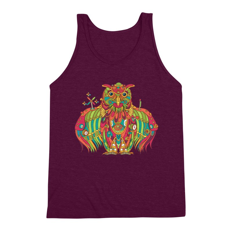 Owl, cool art from the AlphaPod Collection Men's Triblend Tank by AlphaPod