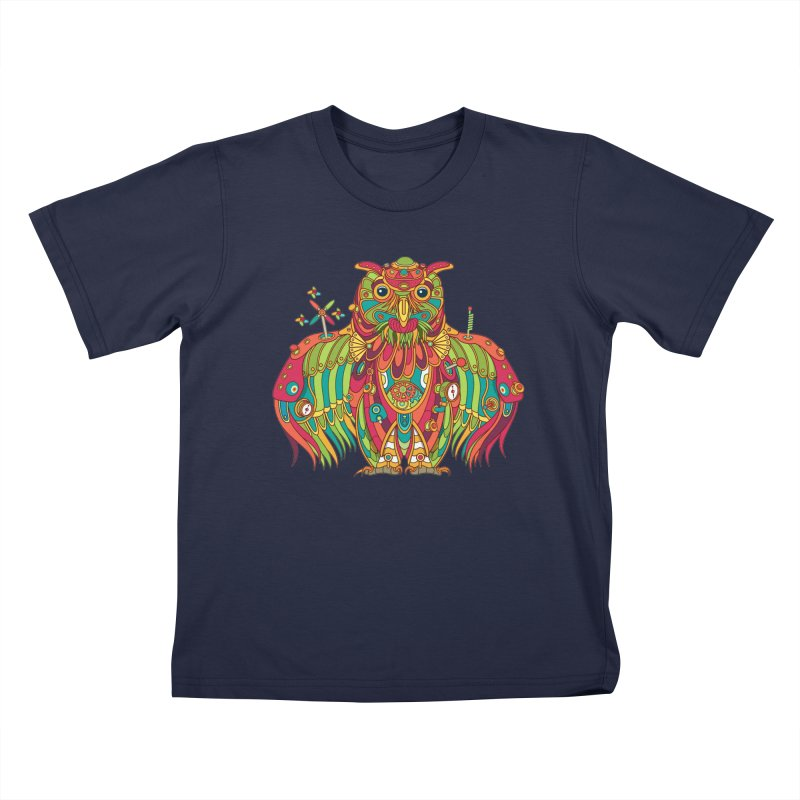 Owl, cool art from the AlphaPod Collection Kids T-Shirt by AlphaPod