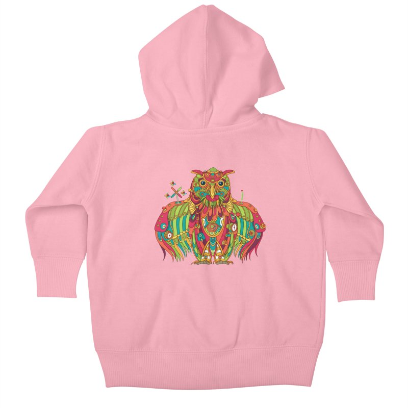 Owl, cool art from the AlphaPod Collection Kids Baby Zip-Up Hoody by AlphaPod