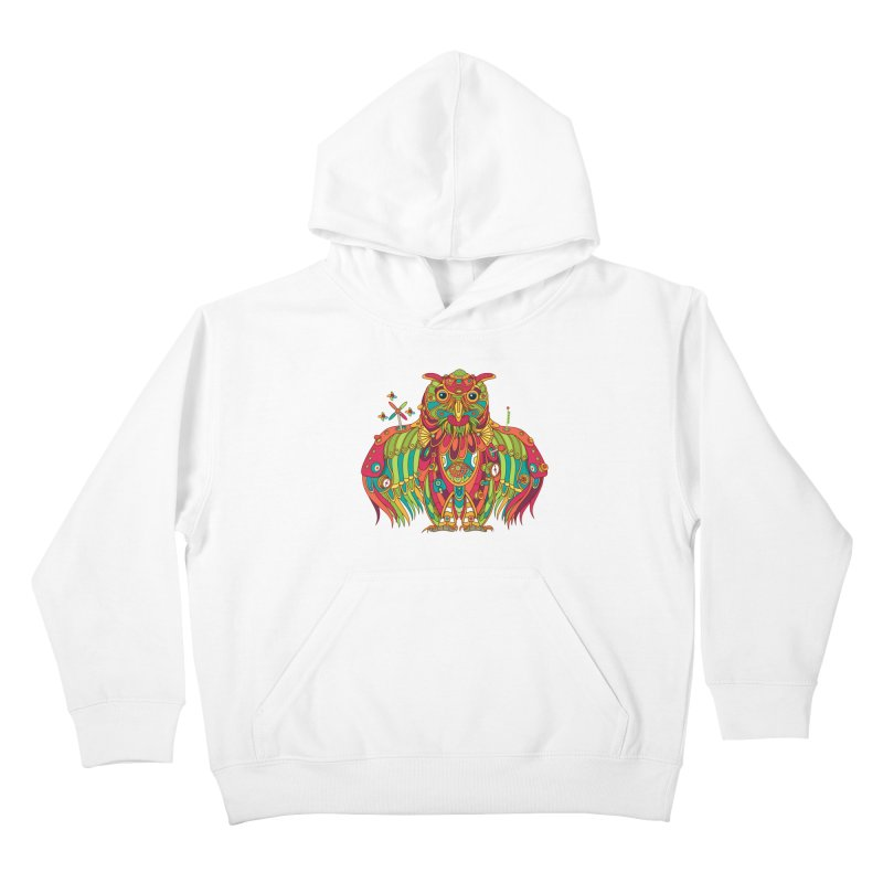 Owl, cool art from the AlphaPod Collection Kids Pullover Hoody by AlphaPod