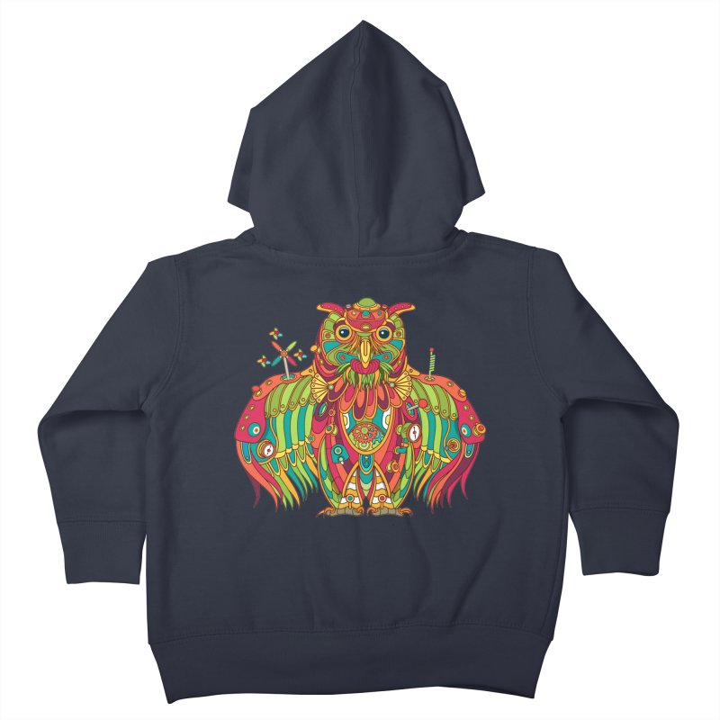 Owl, cool art from the AlphaPod Collection Kids Toddler Zip-Up Hoody by AlphaPod