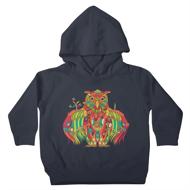 Owl, cool art from the AlphaPod Collection Kids Toddler Pullover Hoody by AlphaPod