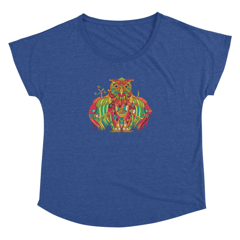 Owl, cool art from the AlphaPod Collection Women's Dolman by AlphaPod