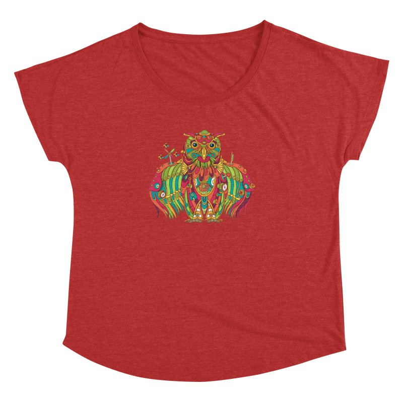 Owl, cool art from the AlphaPod Collection Women's Dolman Scoop Neck by AlphaPod