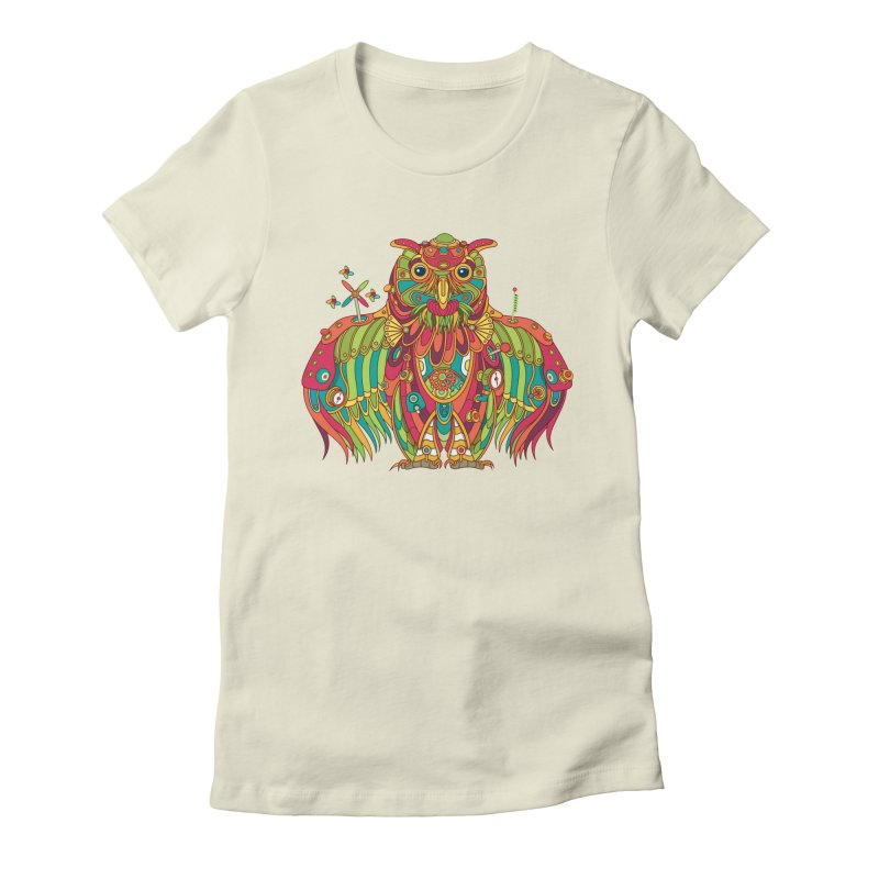Owl, cool art from the AlphaPod Collection Women's T-Shirt by AlphaPod