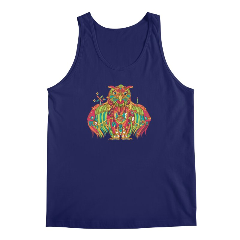 Owl, cool art from the AlphaPod Collection Men's Regular Tank by AlphaPod