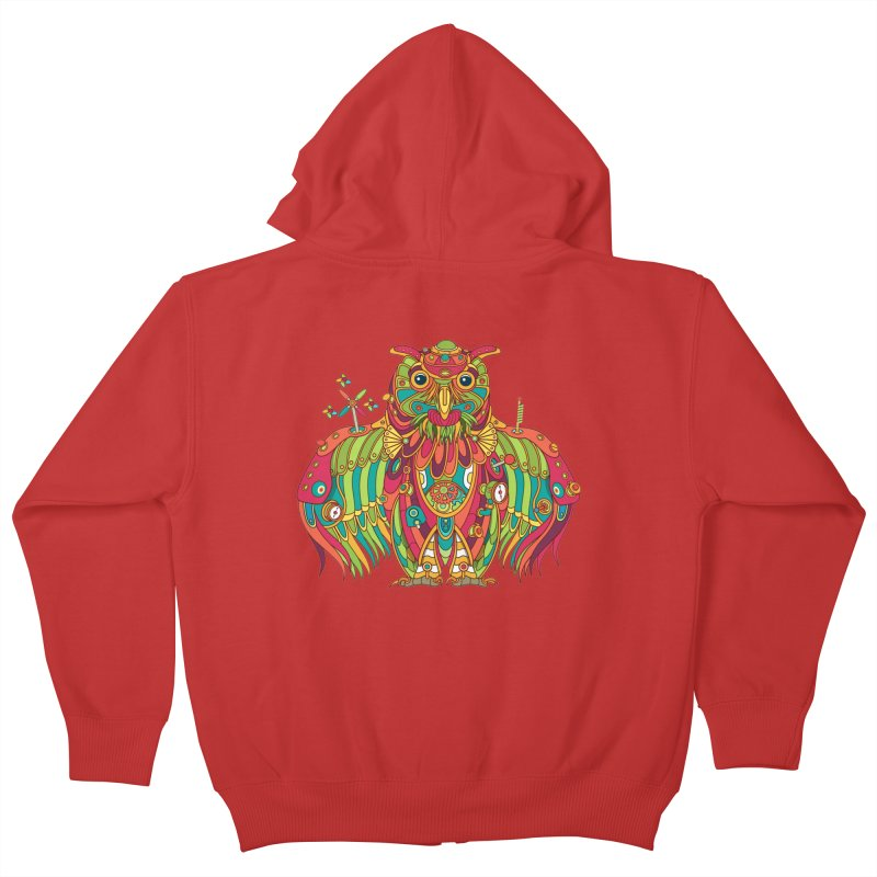 Owl, cool art from the AlphaPod Collection Kids Zip-Up Hoody by AlphaPod