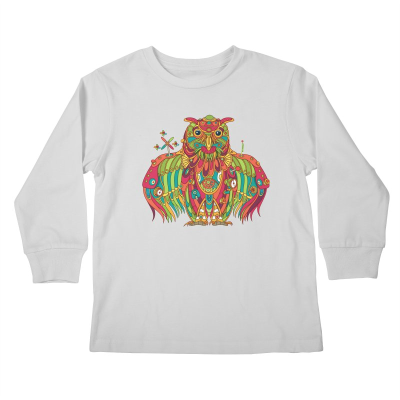 Owl, cool art from the AlphaPod Collection Kids Longsleeve T-Shirt by AlphaPod