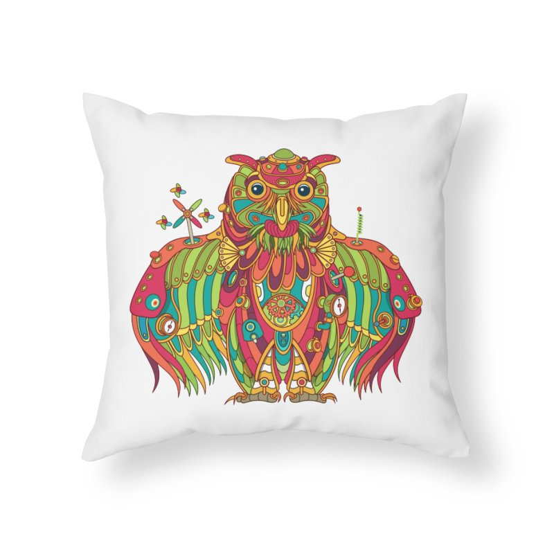 Owl, cool art from the AlphaPod Collection Home Throw Pillow by AlphaPod