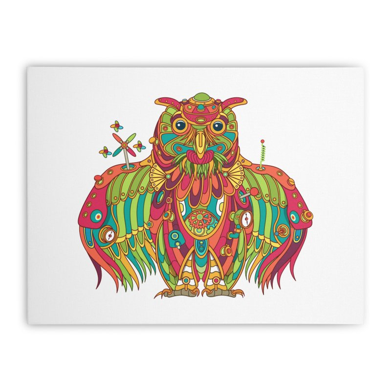Owl, cool art from the AlphaPod Collection Home Stretched Canvas by AlphaPod