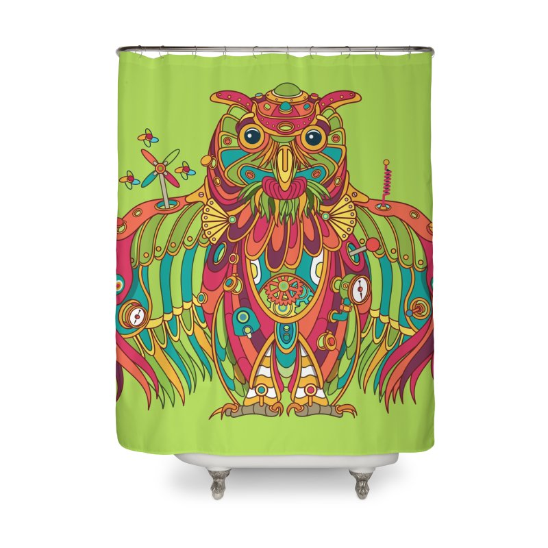 Owl, cool art from the AlphaPod Collection Home Shower Curtain by AlphaPod