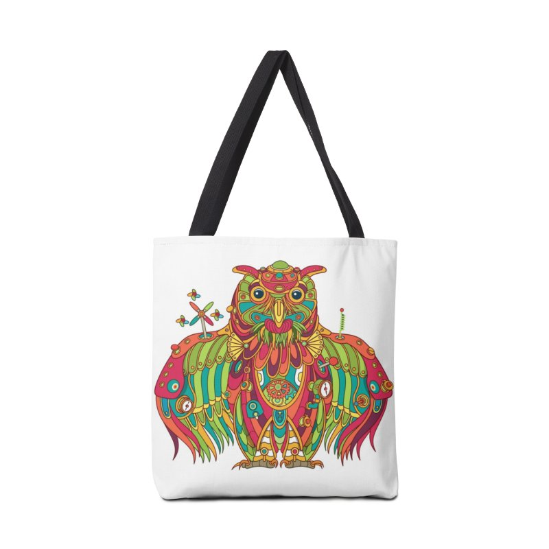 Owl, cool art from the AlphaPod Collection Accessories Bag by AlphaPod