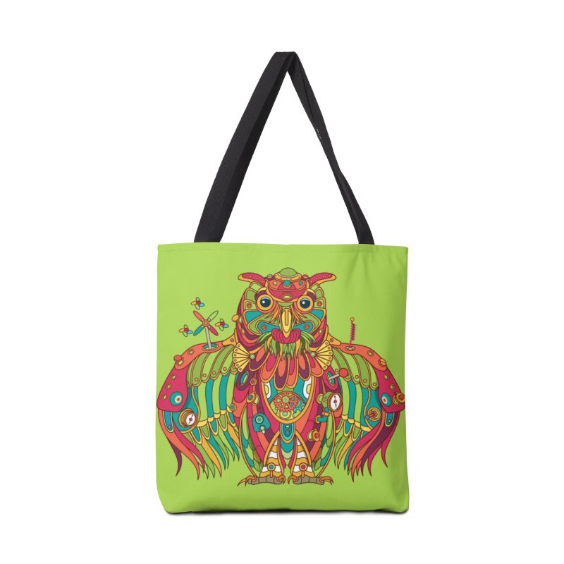 Owl, cool art from the AlphaPod Collection Accessories Tote Bag Bag by AlphaPod