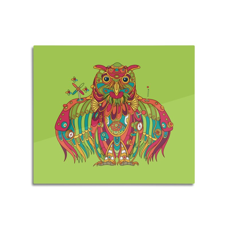 Owl, cool art from the AlphaPod Collection Home Mounted Acrylic Print by AlphaPod