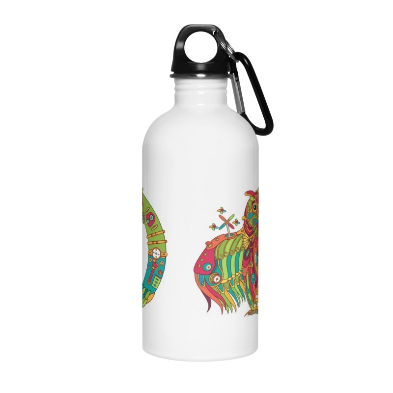 Owl, cool art from the AlphaPod Collection Accessories Water Bottle by AlphaPod