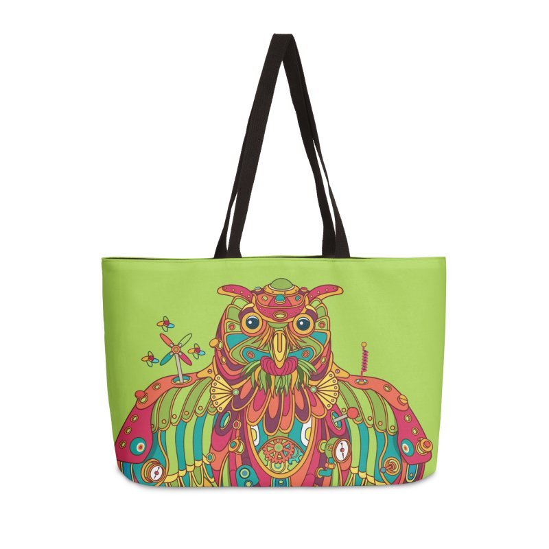 Owl, cool art from the AlphaPod Collection Accessories Weekender Bag Bag by AlphaPod
