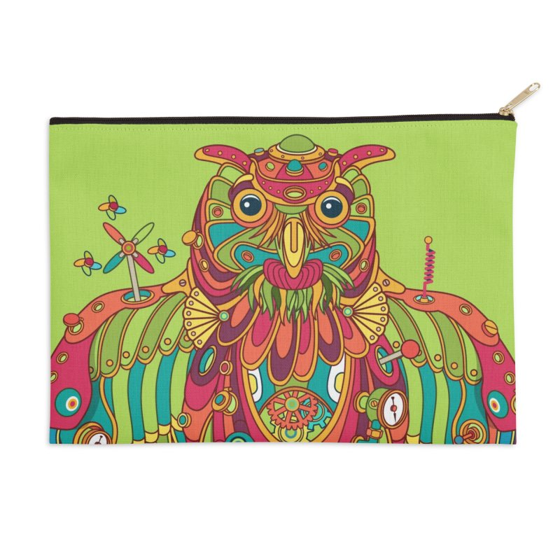 Owl, cool art from the AlphaPod Collection Accessories Zip Pouch by AlphaPod