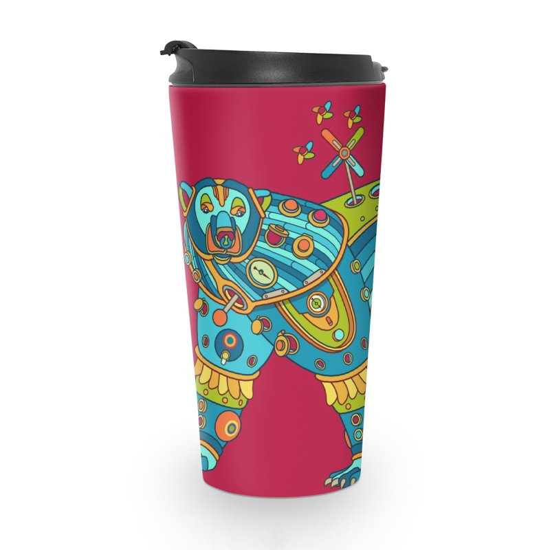 Polar Bear, cool art from the AlphaPod Collection Accessories Travel Mug by AlphaPod