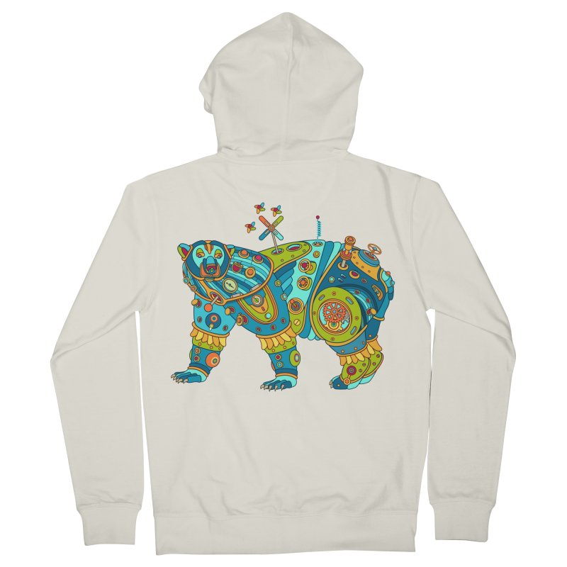 Polar Bear, cool art from the AlphaPod Collection Women's Zip-Up Hoody by AlphaPod