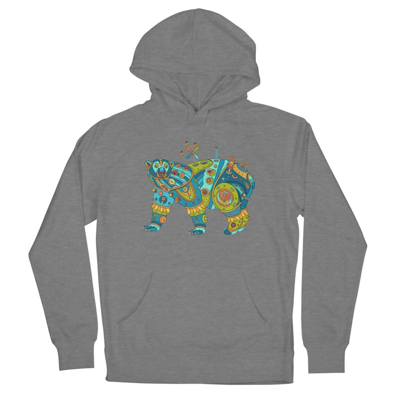 Polar Bear, cool art from the AlphaPod Collection Men's French Terry Pullover Hoody by AlphaPod