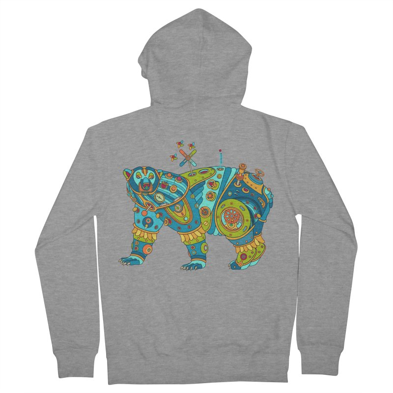 Polar Bear, cool art from the AlphaPod Collection Women's French Terry Zip-Up Hoody by AlphaPod