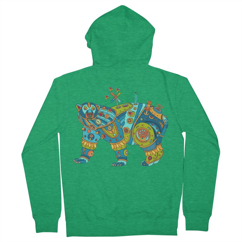 Polar Bear, cool art from the AlphaPod Collection Men's Zip-Up Hoody by AlphaPod
