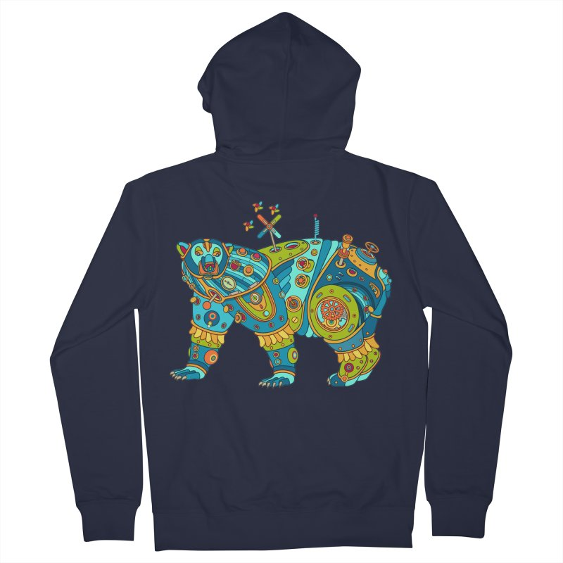 Polar Bear, cool art from the AlphaPod Collection Men's French Terry Zip-Up Hoody by AlphaPod