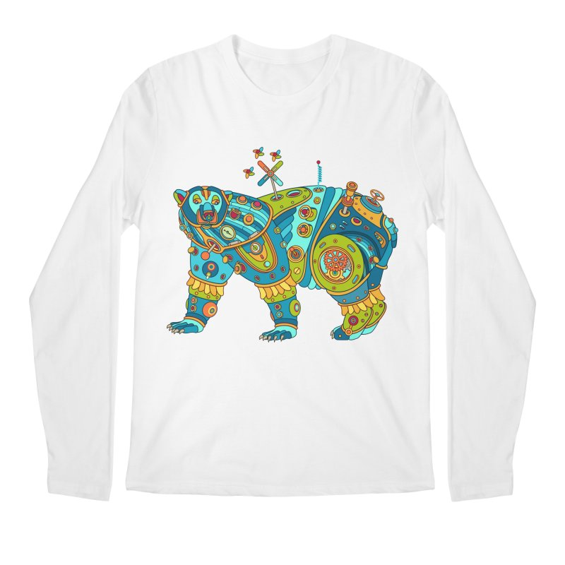 Polar Bear, cool art from the AlphaPod Collection Men's Regular Longsleeve T-Shirt by AlphaPod