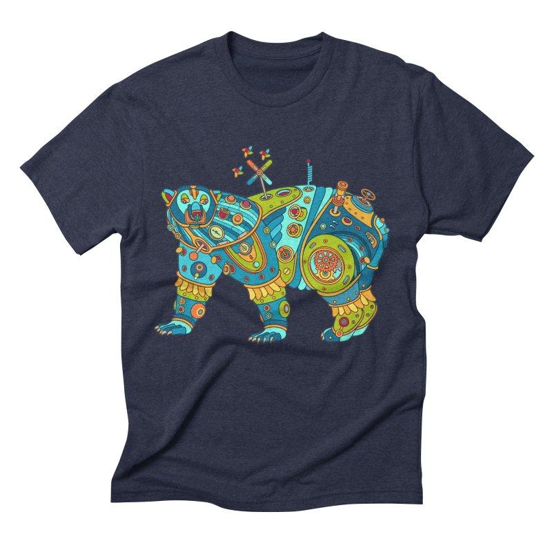 Polar Bear, cool art from the AlphaPod Collection Men's Triblend T-Shirt by AlphaPod
