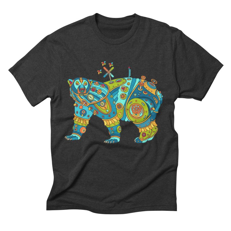 Polar Bear, cool art from the AlphaPod Collection Men's Triblend T-Shirt by AlphaPod