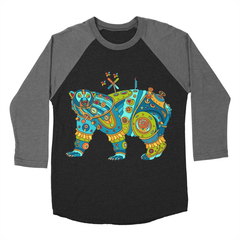 Polar Bear, cool art from the AlphaPod Collection Women's Baseball Triblend Longsleeve T-Shirt by AlphaPod