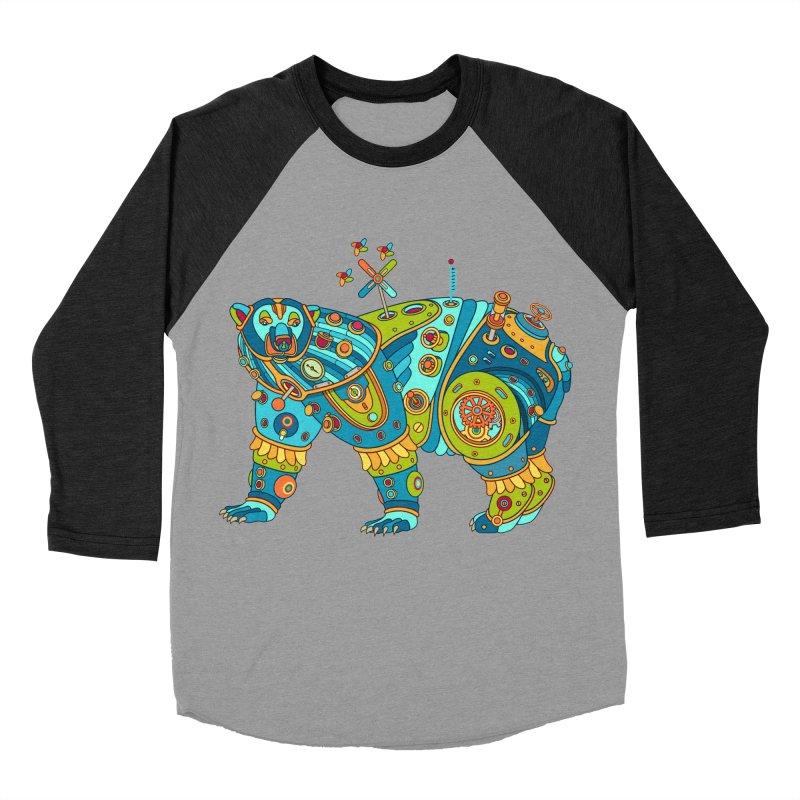 Polar Bear, cool art from the AlphaPod Collection Women's Baseball Triblend Longsleeve T-Shirt by AlphaPod