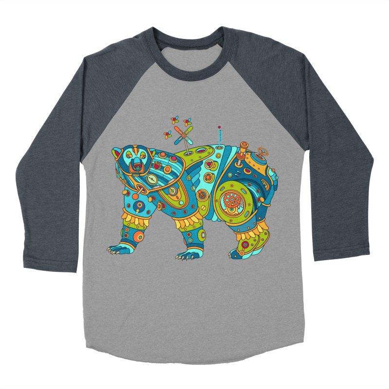 Polar Bear, cool art from the AlphaPod Collection Men's Baseball Triblend Longsleeve T-Shirt by AlphaPod