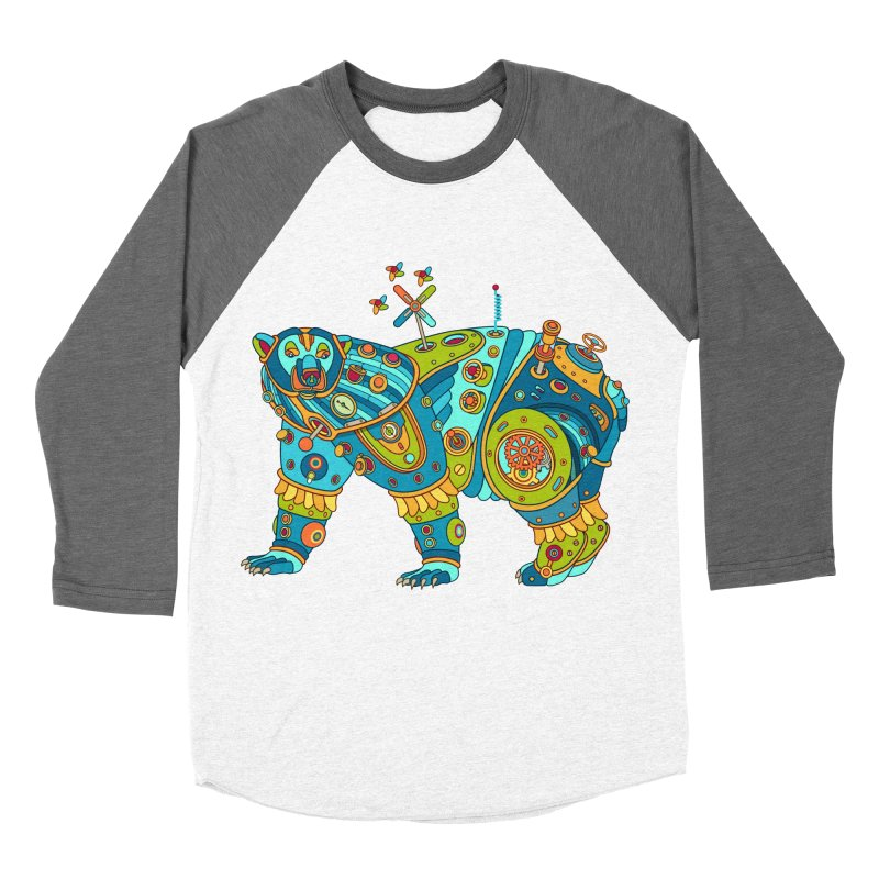 Polar Bear, cool art from the AlphaPod Collection Men's Baseball Triblend Longsleeve T-Shirt by AlphaPod